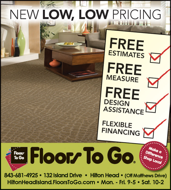 New Low, Low Pricing.  Floors To Go Hilton Head.